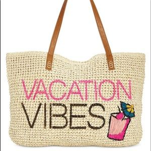 INC VACATION VIBES mimi wicker tote